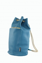 Aqua Blue Mini Duffel Bag