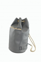 Dove Grey Mini Duffel Bag